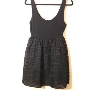 H&M- Black mini dress